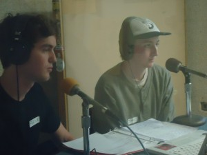 Felix and Jake on the mics